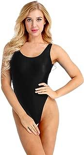 iiniim Women's Sheer High Cut Backless See-Through Leotard Thong Bodysuit Lingerie
