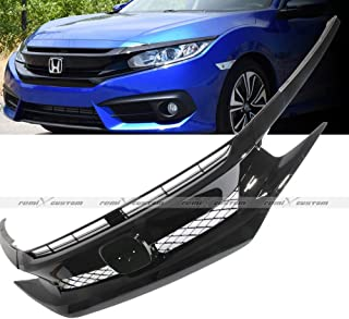 Remix Custom Front Grill for 2016 2017 2018 Honda Civic JDM Eyelids Covers