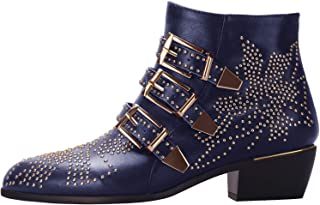5439f5f18 Amazon.com  Blue - Ankle   Bootie   Boots  Clothing