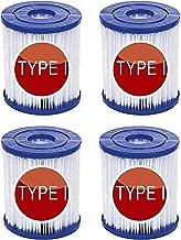Denkmsd filtros para Piscina Bestway Tipo I, Filtro para Piscina para Bestway 58381 Tipo I, para Cartucho de Filtro de Repuesto Bestway para Piscina,filtros de Piscina inflables (4 Pcs)