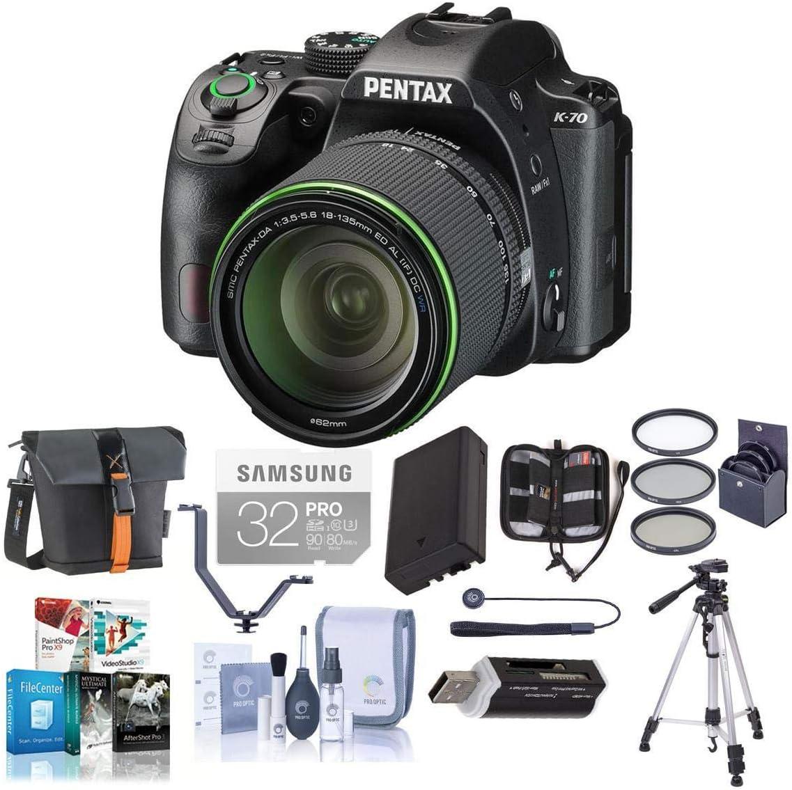 Pentax K-70 Japan Maker New 24MP Full HD DLR Camera DA SMC 18-135mm with 3.5-5 f Soldering