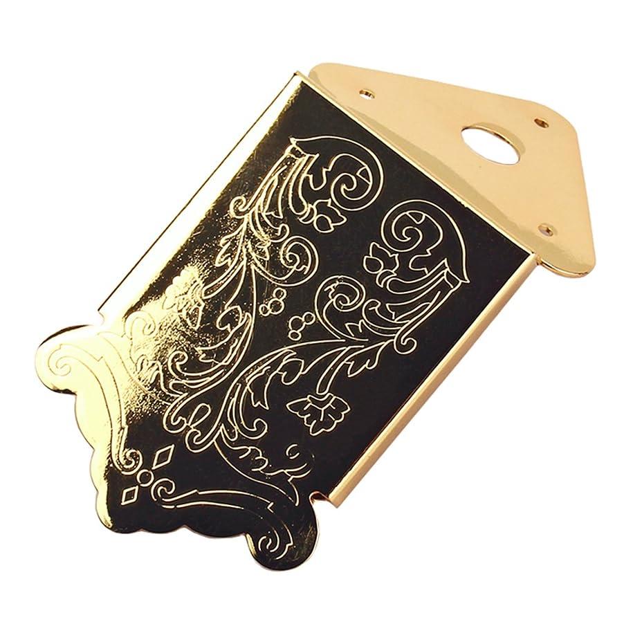 一族人間ビーチLovoski マンドリン テールピース ブリッジ ネジ 3‐6弦シガーボックスギター用 パーツ 全2色  - ゴールデン
