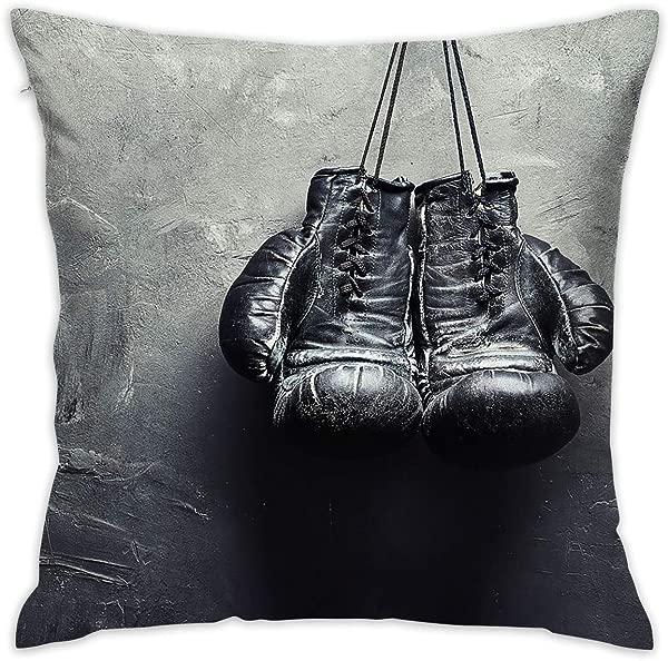 Karen Felix Throw Pillow Covers Boxing Gloves Decorative Cushion Case For Sofa Bedroom Car 18 X 18 Inch 45 X 45 Cm