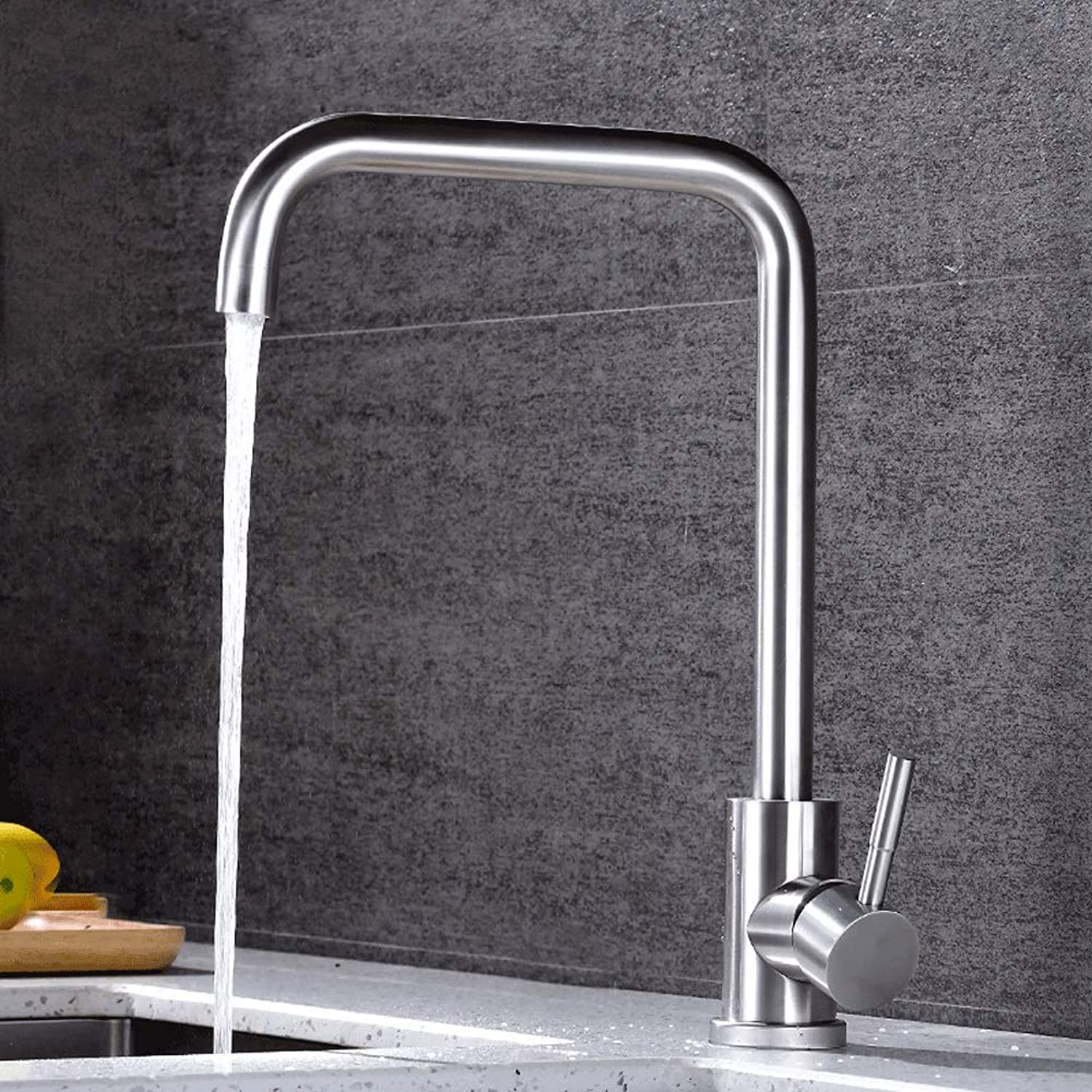Ppigle Kitchen Faucet Hot And Cold Sink Sink 304 Stainless Steel Sink Faucet Can Be redated 304 Stainless Steel