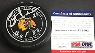 stan mikita autographed puck