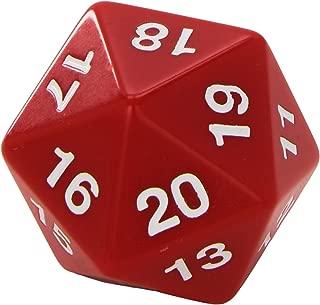 Koplow Games Red Jumbo Dice D20 Count Down 55mm Dice