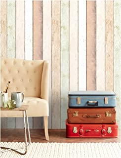 HaokHome 92002 Thick Peel and Stick Reclaimed Wood Planks Wallpaper 17.7