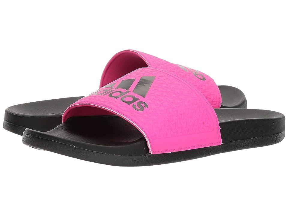adidas Kids Adilette SC Plus Logo (Little Kid/Big Kid) (Black/Shock Pink/Shock Pink) Girls Shoes