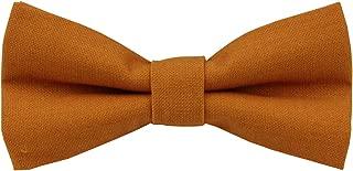 Mens Charm Solid Linen Pretied Bowtie - Various Colors