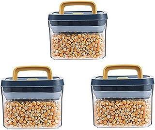 3PCS Riz Storage Conteneur de Stockage de Nourriture Céréales Stockage Conteneurs Plastique AuratThight Stockage Conteneur...