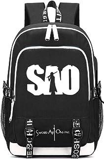 Siawasey Anime Sword Art Online Cosplay Backpack Daypack Bookbag Laptop School Bag with USB Charging Port