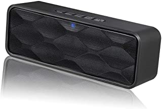 Bluetooth Speaker,Bluetooth 5.0 Portable Speaker with Stereo Sound and Hi-Fi Bass,12H Playtime,TF-card Slot,Built-in FM an...