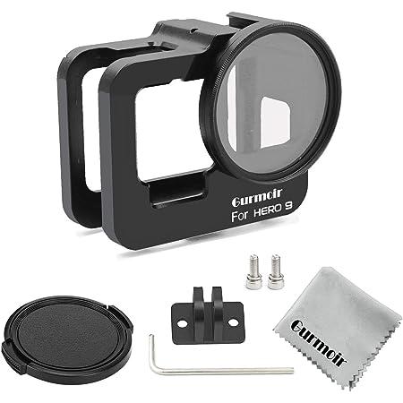 Gurmoir Aluminum Alloy Housing Hollow Frame Case For Gopro Hero 7 Black//Hero 6//Hero5//Hero 2018 Metal Protective Frame with Back Door with 52mm UV Filter Action Camera,Good GPS//Wi-Fi Signal Receiving