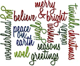 Sizzix, Holiday Words Thinlits Die Set , Script by Tim Holtz, 17 Pack, Multi Color, One Size