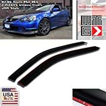 EPARTS JDM Style ABS Black Tinted Rear Roof Window Visor Spoiler Wing Fit For 2001 2002 2003 2004 2005 2006 Acura RSX