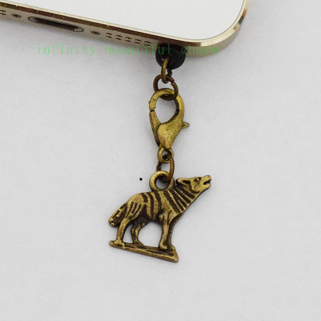 Bronze Wolf Iphone Dust Plug Jack 2021 autumn and Sales of SALE items from new works winter new Earphone Smartphone Cha Charm