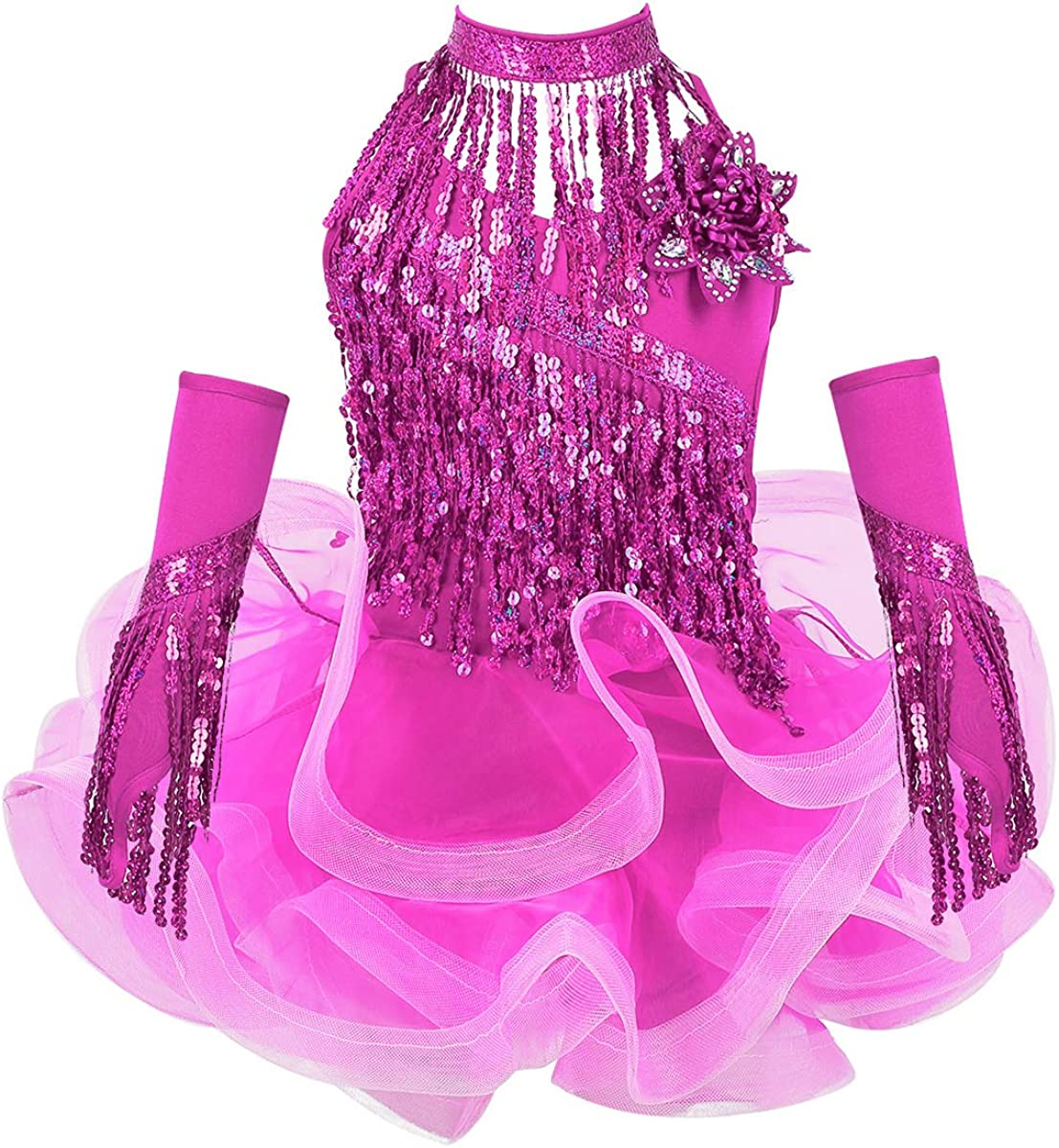 inhzoy Girls Sequins Dance Outfits shopping Costumes Salsa Ballroom Latin It is very popular