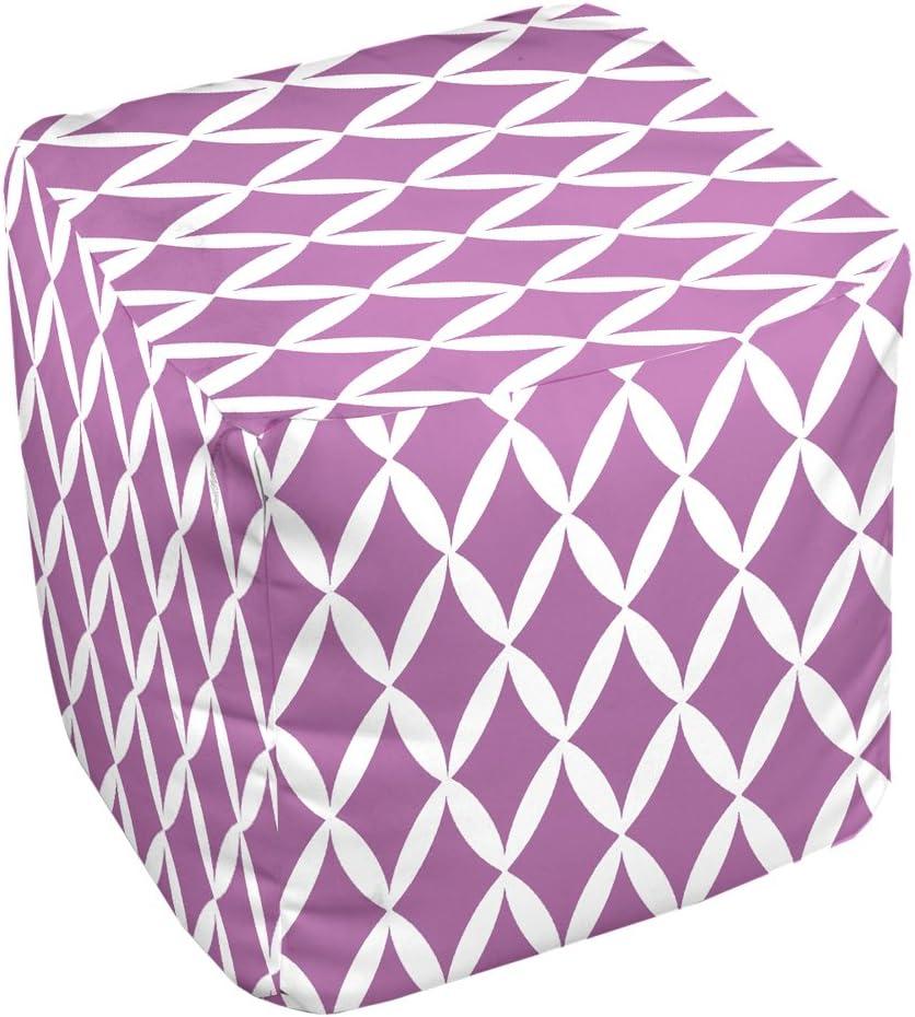 E by design FG-N1-Radiant_Orchid-13 Geometric Pouf