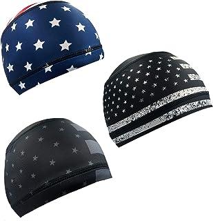 Alpurple Sweat Wicking Helmet Liner, Cooling Cap, Running Hat, Cycling Cap Skull Cap, Helmet Hard Hat Liner for Men and Women
