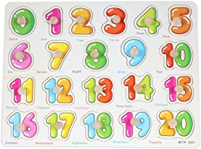 Baybee Wooden Numbers (1-20) With Knob