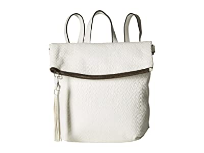 Patricia Nash Twisted Woven Embossed Luzille Backpack (White) Backpack Bags
