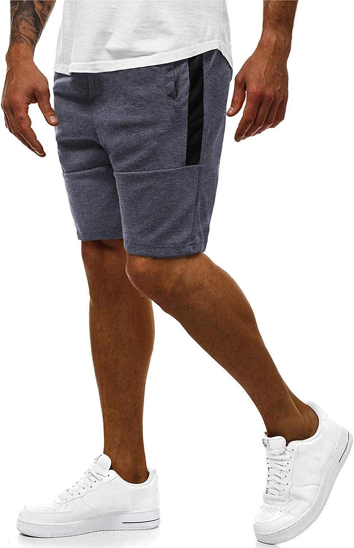 FORUU Mens Shorts 2021,Summer Casual Shorts Plus Size Fitness Bodybuilding Pocket Loose Sports Shorts Athletic Shorts
