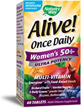 Nature's Way Alive! Once Daily Women's 50+ Multivitamin, Ultra Potency, Food-Based Blend, 60 Tablets