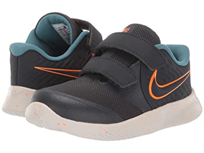 Nike Kids Star Runner 2 (Infant/Toddler) (Anthracite/Total Orange/Light Bone) Kids Shoes