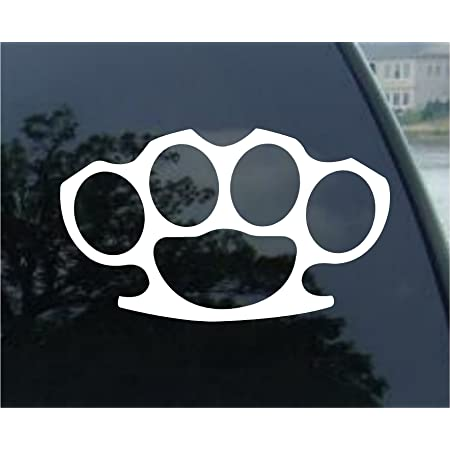 Sticker Graphic Auto Trucks Brass Knuckles Spike JDM Truck Sticker for Windows Cars Wall Laptop Cell