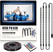 Led Strip Lights with Remote for 40-60in TV Backlights 6.56ft USB Kit with Remote 16 Color Changing 5050 LEDs Bias Lightin...