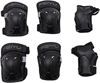 Vinqliq Durable Children Kids Cycling Roller Skating Protective Gear Knee Elbow Wrist Support Protective Pads Guards Set for Skateboard and Other Extreme Sports Equipment