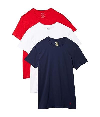 Polo Ralph Lauren Classic Fit Crew T-Shirt 3-Pack (Cruise Navy/RL2000 Red/White) Men