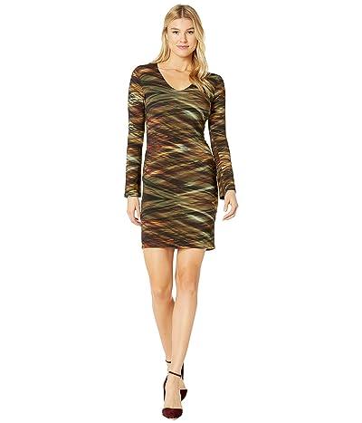 Karen Kane V-Neck Sheath Dress (Print) Women