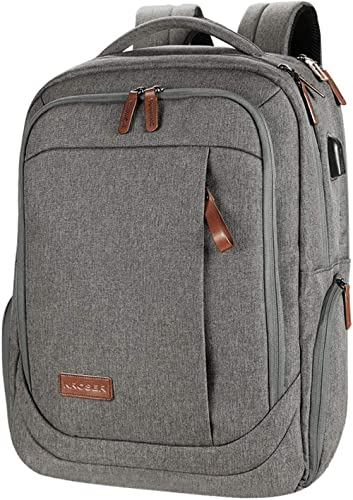 KROSER Laptop Backpack Large Computer Backpack Fits up to 15.6 Inch Laptop with USB Charging Port Water-Repellent Sch...
