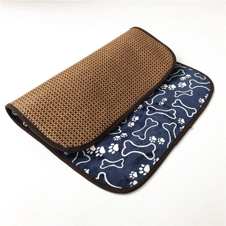 FERZA petsuppliesmisc Mat Big Dog Mat Summer Pet Cool Pad Pet Bed Blanket Pet Cool Pad Fiber Pet Sofa Bed Ice Pad Pet (Size  51  37cm)