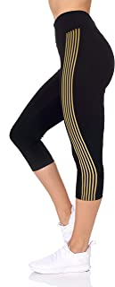 BSP Better Sports Performance Women's Active Workout Leggings - 4 Way Stretch Tummy Control with Rubber Print