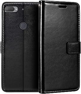 جراب محفظة لهاتف HTC Desire 12 Plus، جراب قلاب مغناطيسي من الجلد الصناعي الممتاز مع حامل بطاقات ومسند لهاتف HTC Desire 12+