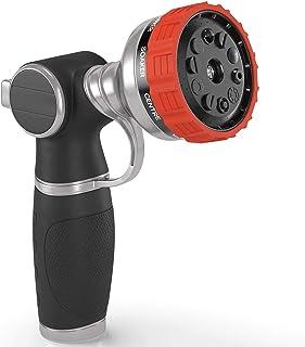 Heavy Duty Garden Hose Nozzle Hand Sprayer with 10 Adjustable Spray Patterns Heavy-Duty Metal Water Hose Spray Nozzle - Hi...