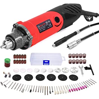 Gyros 40-02470 PowerPro Variable Speed Rotary Tool Kit; Multi-purpose Professional Cutting Tool; 1.2A High Speed Power; Tool Storage Case with 50 Piece Accessory Set Included 4002470