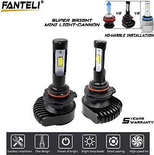 9006 HB4 LED Headlight Bulbs Conversion Kit - FANTELI Mini Series Upgraded CSP Chips With Lens 10000LM Cool White 6000K Low Beam/Fog Lights