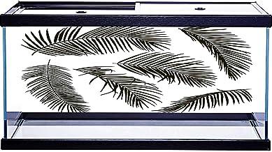 Adhesivo de papel pintado con diseño de hojas de palmera aisladas en blanco, 76,2 x 30,5 cm