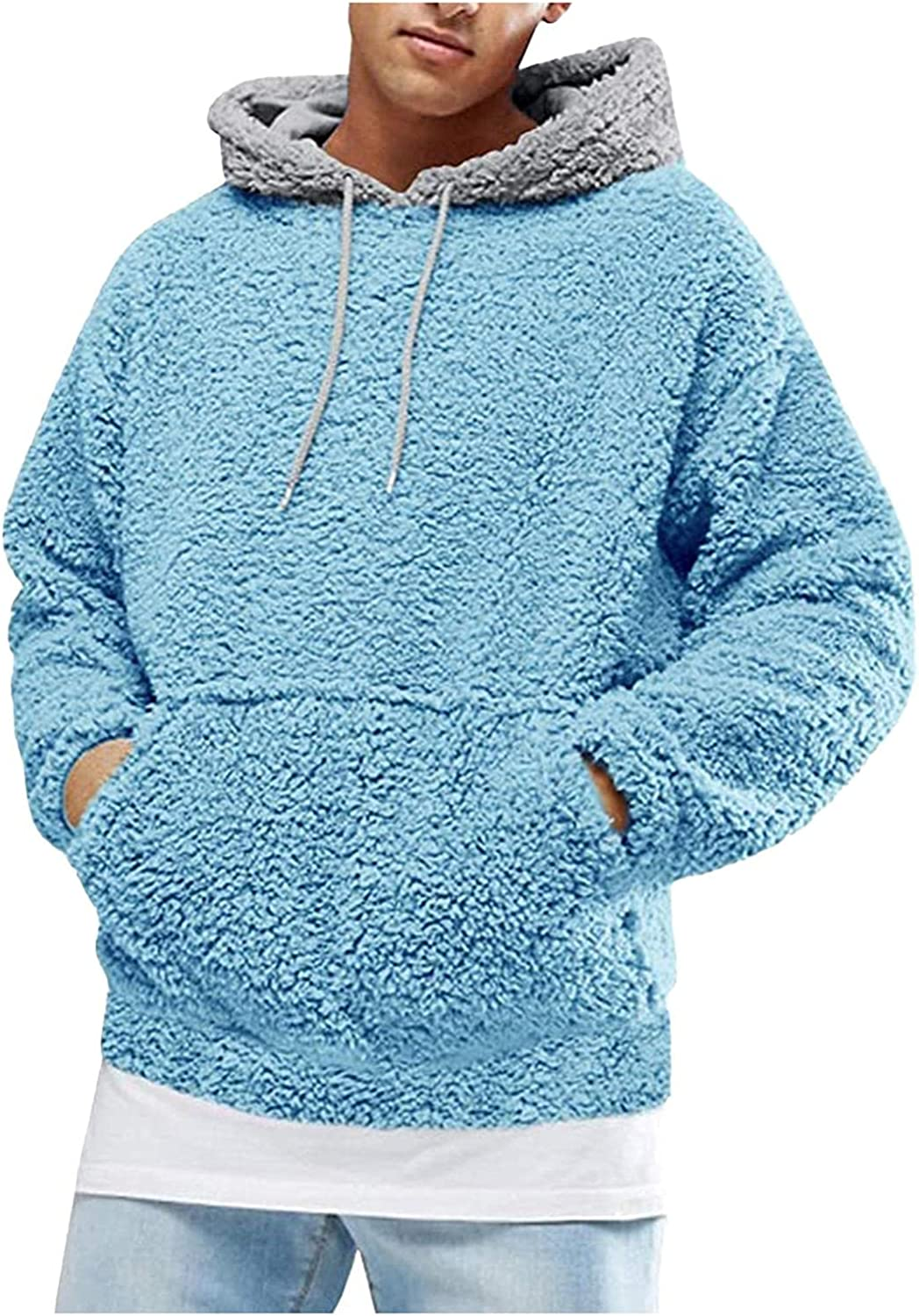 Aayomet Hoodies for Men Fuzzy Front Pocket Fashion Autumn Hoodies Pullover Long Sleeve Casual Mens Hoodies