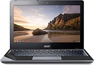 Used Well Chromebook c720 Laptop with Computer Skin in A Cover 11.6 inches 2GB RAM 32GB eMMC -...