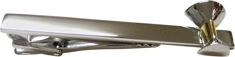 Kiola Designs Two Toned Martini Glass Square Tie Clip