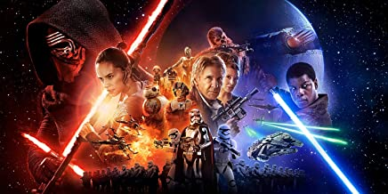 Star Wars The Force Awakens Poster Wall Art Canvas Print Decor by CanvasBy 100x50cm / 3.5cm Deep