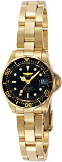Invicta Pro Diver GQ Women's Black Dial Stainless Steel Band Watch - 8943