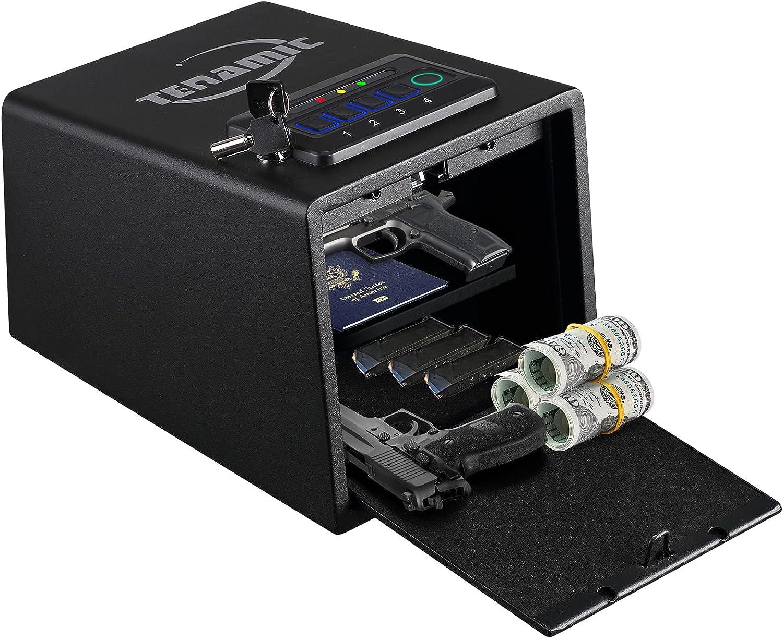 ☆最安値に挑戦 Biometric Gun Safe for 永遠の定番モデル Pistol with Fi Quick Access Handgun