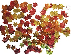 Forum Novelties 98610 Unisex-Adults Harvest Time Metallic Leaf Shaped Confetti 0.5 oz Pack, Multi, Standard, Multicolor