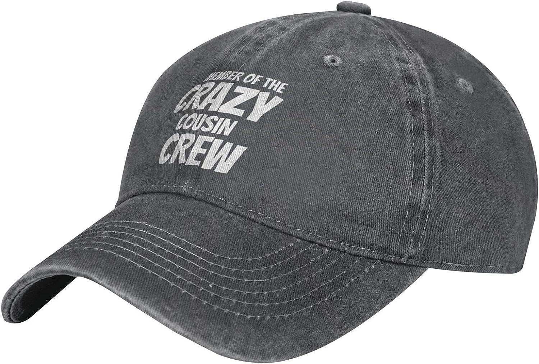 Member of The Crazy Cousin Crew Vintage Adjustable Hats,Unisex Washable Cotton Baseball Cap Trucker Hat