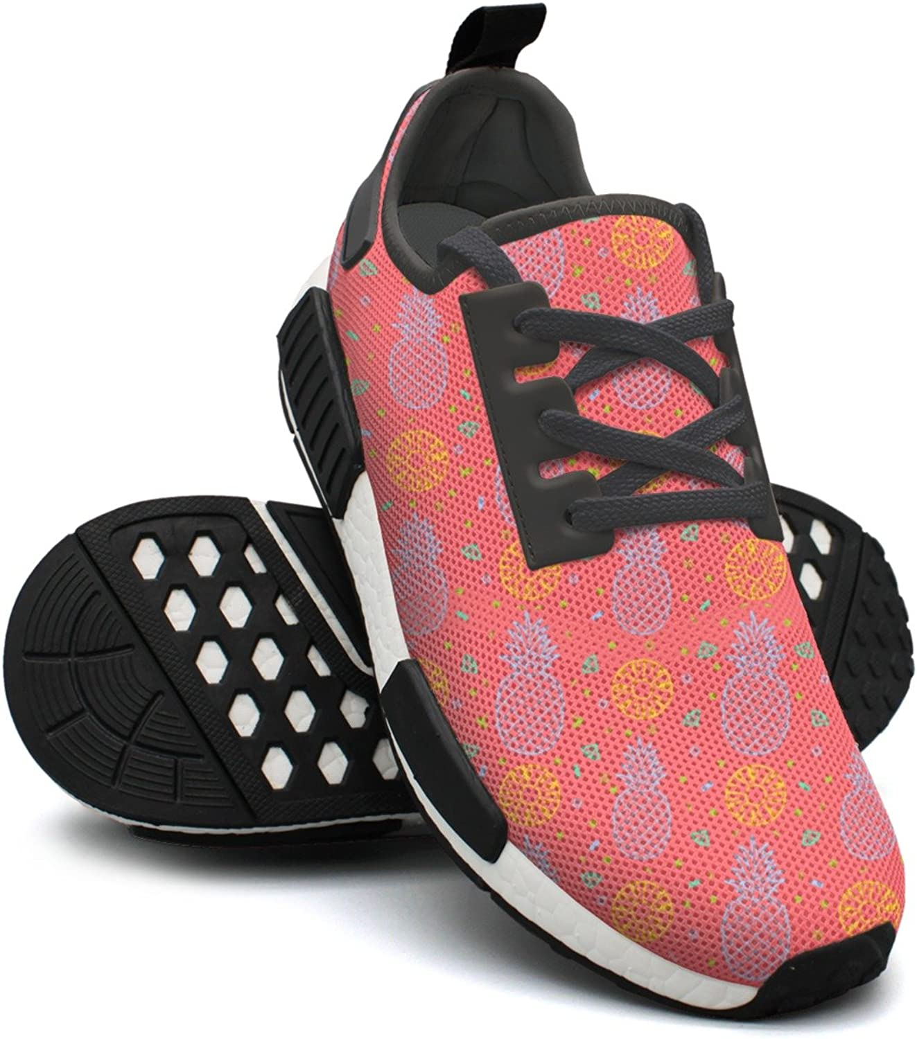 Tropical Pineapple Fruits Red Background Youth Women Running shoes Nmd Sport Tennis shoes